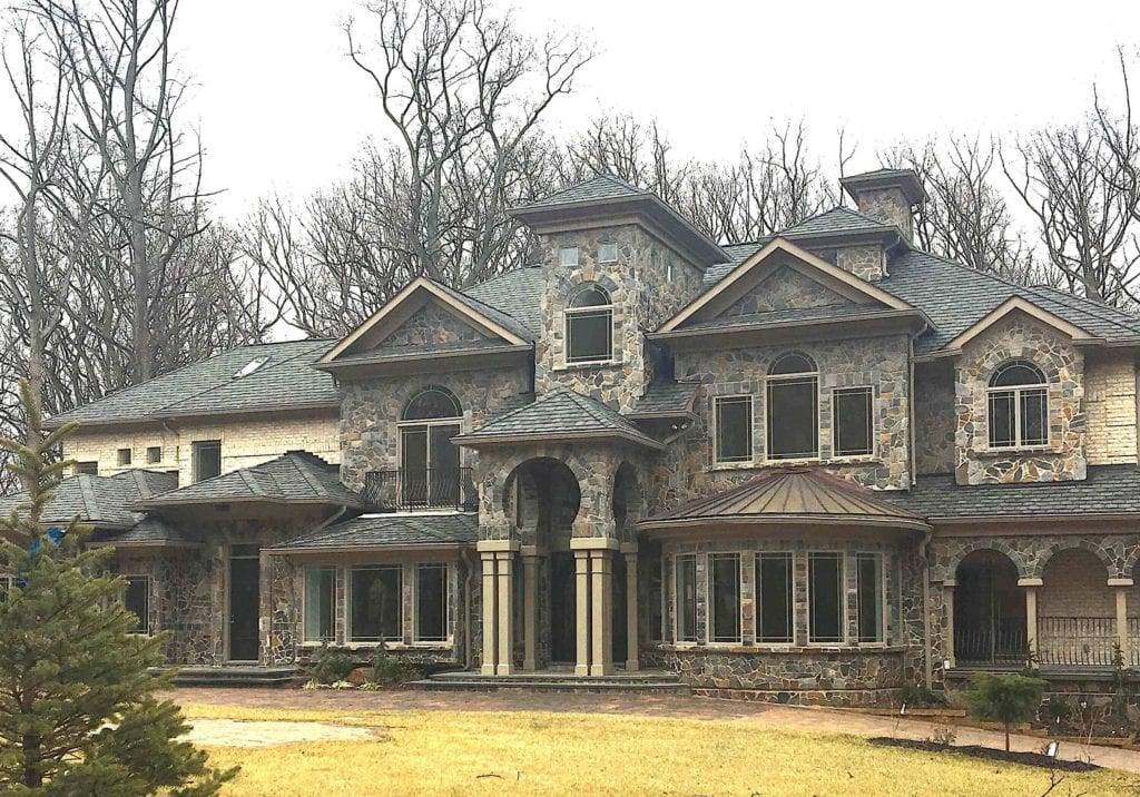 A large home in McLean, VA. Custom finishes
