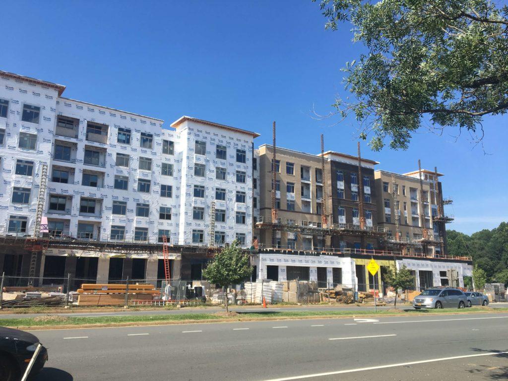 A development in progress, Scout On The Circle in Fairfax VA.